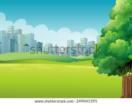 a green landscape across the