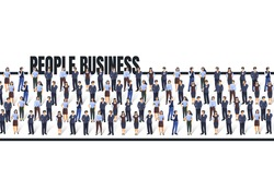 A group of people are getting to business, concept people. Vector illustration