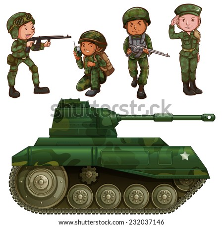 a group of soldiers with an
