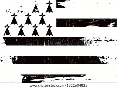 A grunge flag of Brittany for you Foto stock ©
