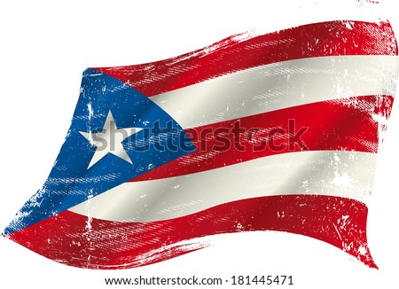 a grunge puerto rican flag in