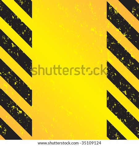 A grungy and worn hazard stripes texture.  This vector image is fully editable.