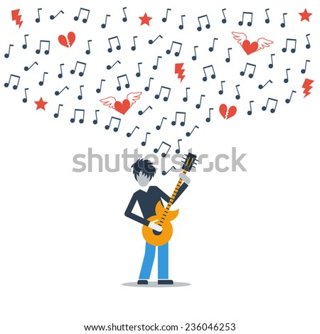 a guitarist playing love melody