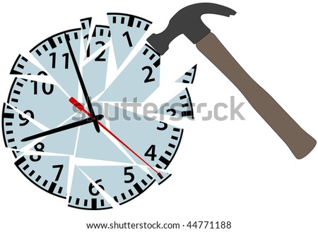 a hammer strikes an alarm clock
