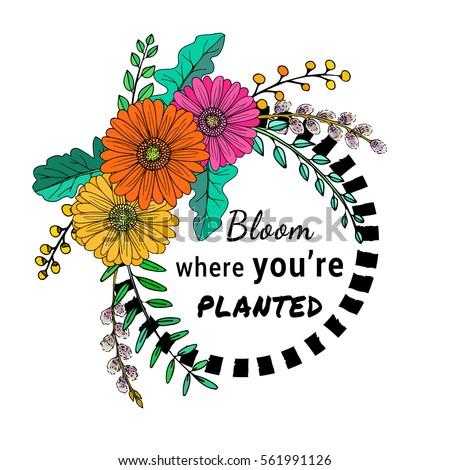a hand drawn floral vector