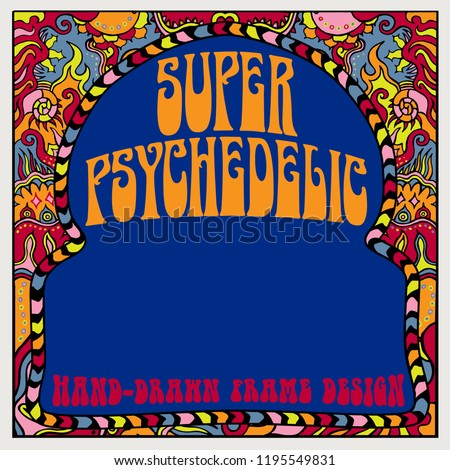 991f1d36a A hand-drawn psychedelic frame design in a square format.
