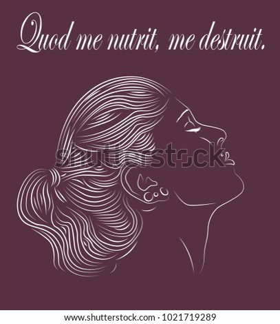 a hand drawn side profile of a