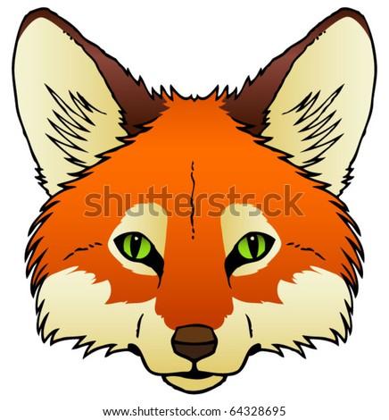 Simple Fox Drawing Cartoon Fox Face Drawing