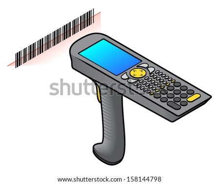 a hand held barcode scanner