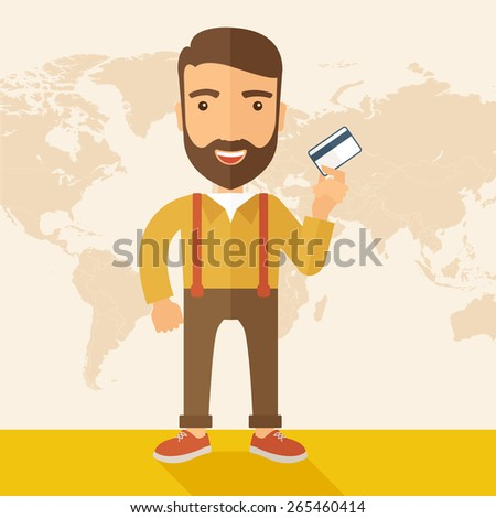 a happy hipster caucasian