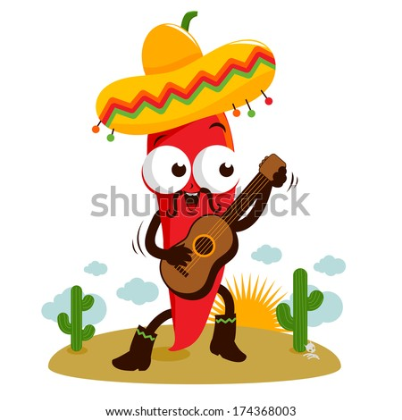 a happy mariachi red hot chili