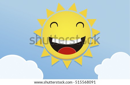 a happy sun smiling cartoon