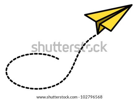 A happy yellow paper plane.