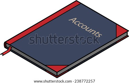 A Hard Cover Bound Accounts Ledger Book