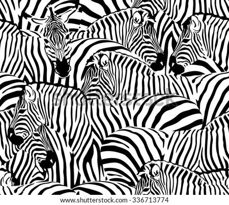 a herd of zebras  seamless
