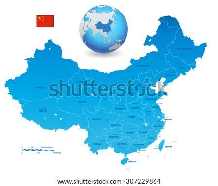 a high detail blue vector map