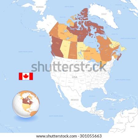 North America Map Vector Download Free Vector Art Stock