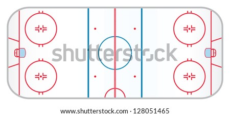 a hockey rink with realistic