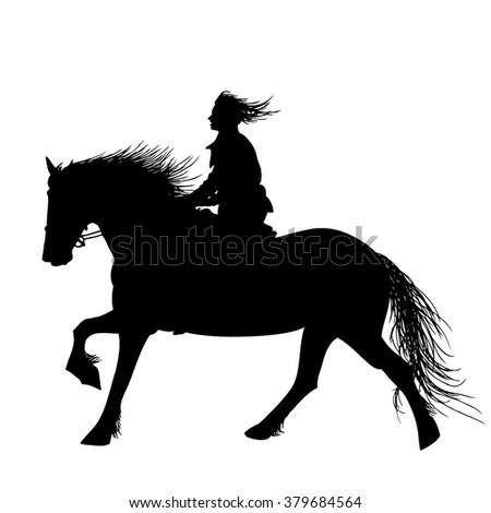 a horse rider isolated