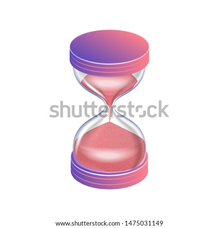 a hourglass isolated on the