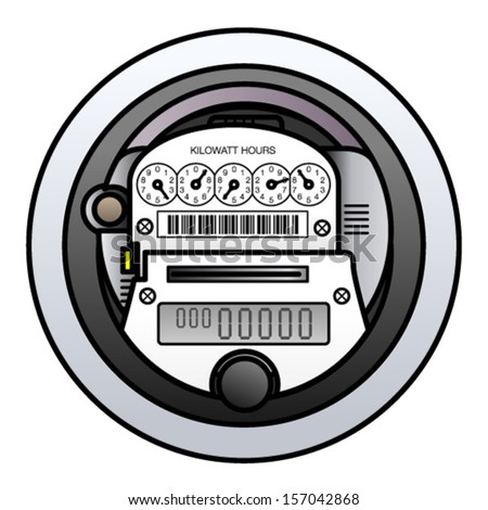 Electricity Meter Clipart