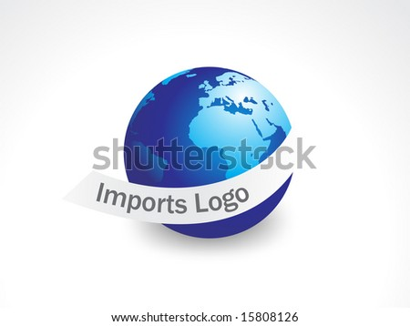 A  import logo globe with white background