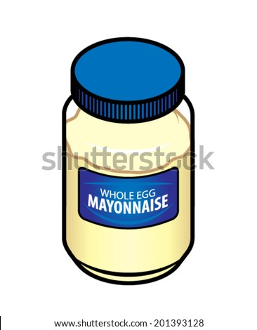 Jar Of Whole Egg Mayonnaise. Stock Vector Illustration 201393128 ...