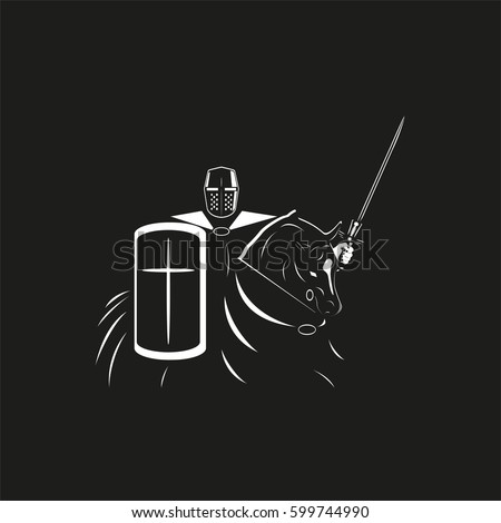 a knight in armor with a shield
