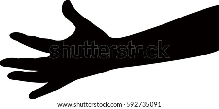 stock-vector-a-lady-hand-silhouette