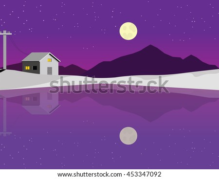 a landscape of a house in the