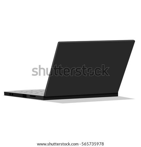 A Laptop on transparent background