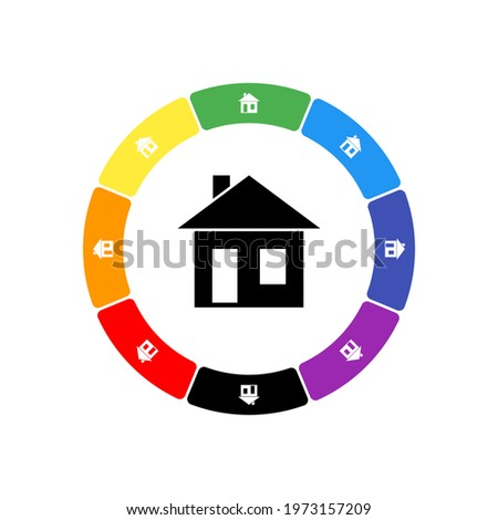 a large black house symbol in
