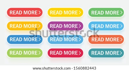 A large collection of buttons with falling color shadows. Web Icons. Vector illustration .Web design. Web sites. Vector illustration