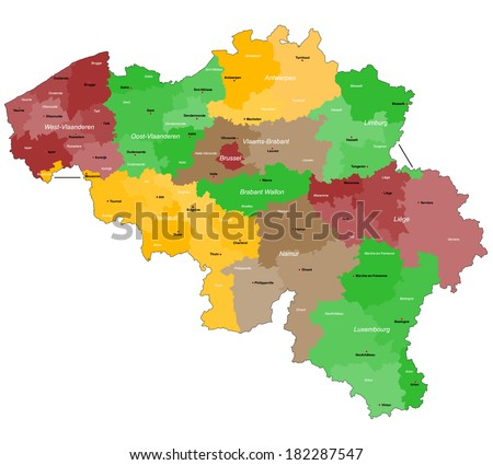 Free Vector Map of Belgium Free Vector Art at Vecteezy