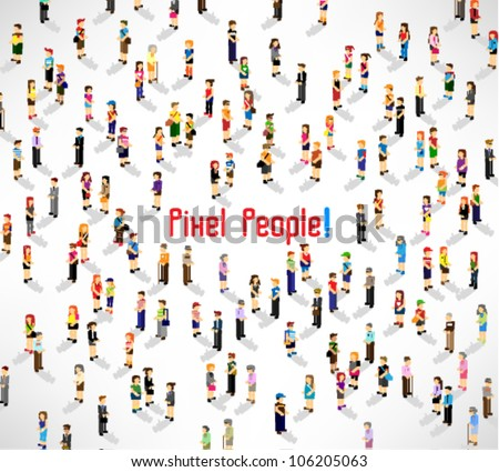 a large group of people meeting together vector icon design