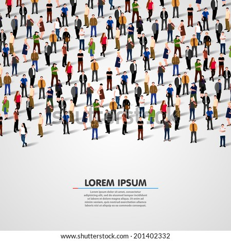 a large group of people vector