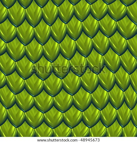a large image of green shiny dragon scales or hide