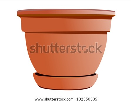 A large planting pot in gardening
