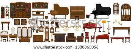 a large set of antique