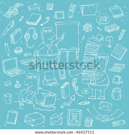 a large set of office objects is a vector