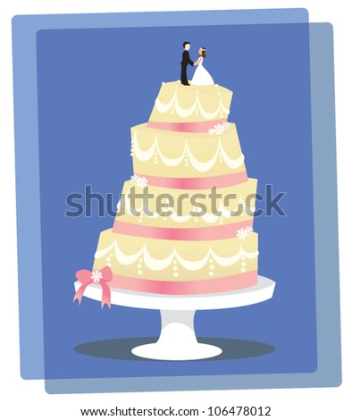 A layered Vanilla Wedding Cake