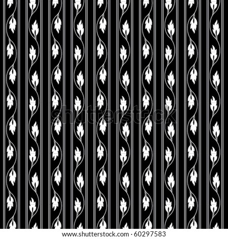 A leafy vertical vector pattern