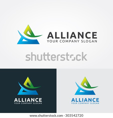 a letter logo alliance vector