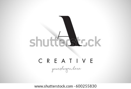 a letter logo design with