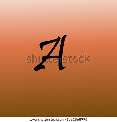 A letter logo with nice background.A nice vector logo icon.