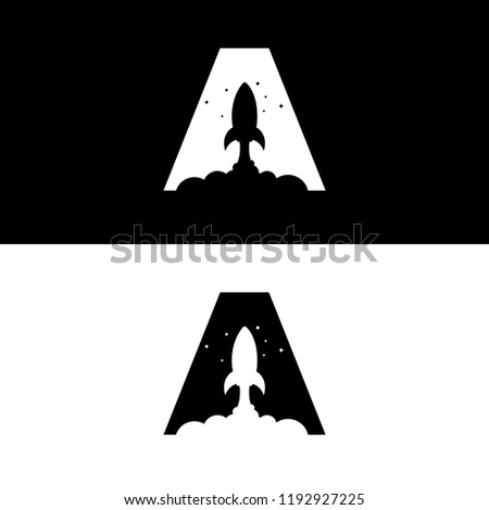 a letter rocket logo