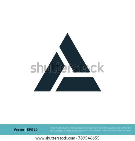 A Letter Trinity Icon Vector Logo Template