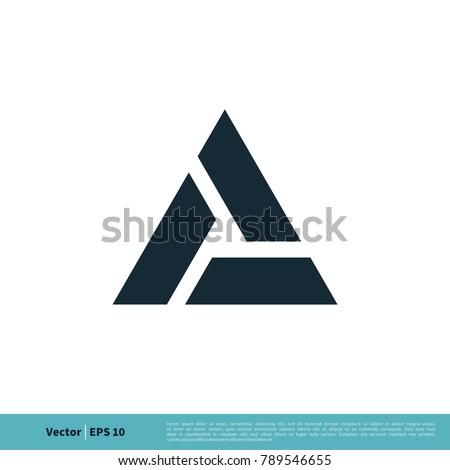 A Letter Trinity Icon Vector Logo Template Illustration Design. Vector EPS 10.