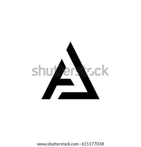 a letter vector logo. aj letter vector logo