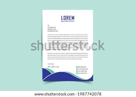 A4 Letterhead Template Vector Design. Corporate letterhead, modern letterhead, Professional, Minimalist, clean and abstract letterhead for you brand identity design. Vector illustration